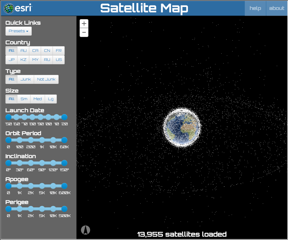 ESRI Satellitkort